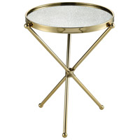 Sterling 351-10628 Narcissus 17 inch Gold with Antique Mirror Accent Table