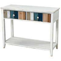 Sterling 351-10631 Bar Harbor 40 X 15 inch White and Blue with Wood Tone Console Desk