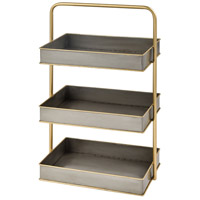 Sterling 351-10701 French Lick Pewter/Gold Desk Tidy photo thumbnail