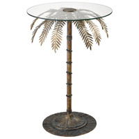 Latin Quarter 20 inch Aged Gold/Clear Accent Table