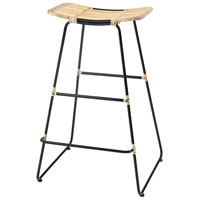 Panama Hat 31 inch Natural Wood/Bronze Stool