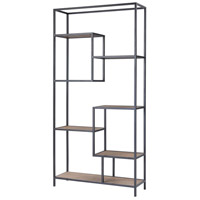 Sterling 351-10752 Box Office 74 X 36 X 12 inch Salvaged Grey Oak/Bronze Shelf