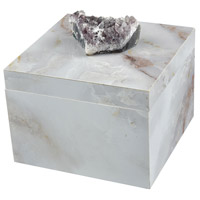 Ekaterina Grey Marble and Natural Geode Box