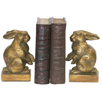Sterling Industries Pair Baby Rabbit Bookends Decorative Accessory in Gold 4-83037 photo thumbnail
