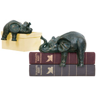 Sterling Industries Set of 2 Sprawling Elephants Statue 4-8527172