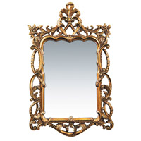 Sterling Industries Floral Scroll Mirror in Gold Leaf 40-1704M