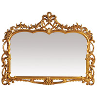 Capetian Mirror 55 X 43 inch Gold Leaf Mirror Home Decor
