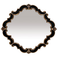 Sterling Industries Frederick Medallion Mirror in Gretna Gold and Black 40-2630M