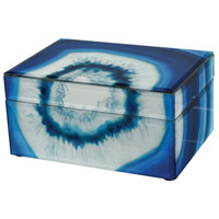 Marara 8 X 6 inch Blue Jewelry Box