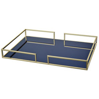 Skyros Blue and Gold Tray, Mirror