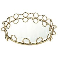 Sterling 4209-004 Tower Hill Gold and Silver Mirror Tray