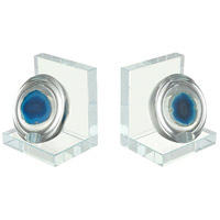 Elysium 4 X 4 inch Blue Bookend