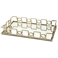 Chatelaine Gold And Clear Mirror Tray