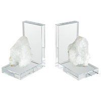 ROCK 10 X 3 inch Clear Crystal/Natural Rock Crystal Bookend