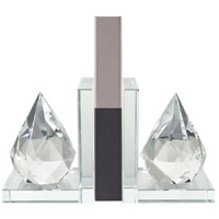 Sterling 4209-035/S2 Twin Peaks 9 X 4 inch Clear Bookends, Set of 2