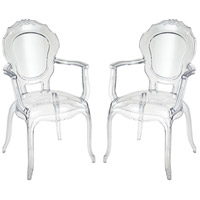 Vie En Rose Clear Armchairs Home Decor, Set of 2