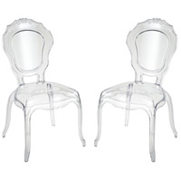 Vie En Rose Clear Accent Chairs, Set of 2