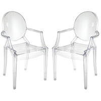 Vanish Clear Armchairs Home Decor, Set of 2