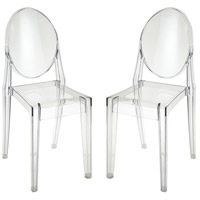 Vanish Clear Accent Chairs Home Decor, Set of 2