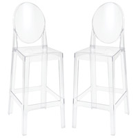 Sterling 4210-009/S2 Vanish 46 inch Clear Acrylic Bar Stools, Set of 2