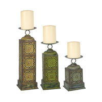 Sterling Industries Set of 3 Alhambra Candleholders Decorative Accessory in Painted 51-0008