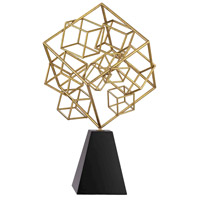 Cubic Gold and Black Abstract Sculpture