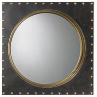Metal Rivet 25 X 25 inch Antique Gold and Bronze Wall Mirror Home Decor
