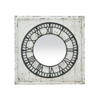 Sterling Industries Keeping Time Mirror Mirror in Antique White 51-0049M