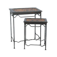 Sterling Industries Set of 2 Stacking Leopard Side Tables 51-0054