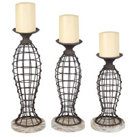 Sterling Industries Set of 3 Beachcomber Candleholders Decorative Accessory 51-0091