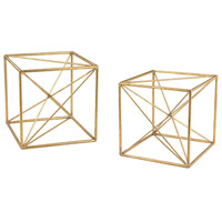 Sterling 51-017/S2 Angular Gold Decorative Cubes