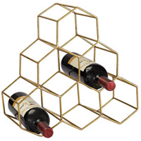 Sterling Angular Wine Rack in Gold 51-026