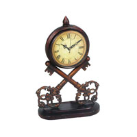 Sterling 51-0281 Key 14 X 4 inch Table Clock