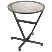 Sterling World Map Table in Black and Gold 51-032