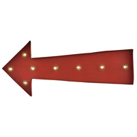 Sterling Arrow Marquee Sign in Antique Red 51-033