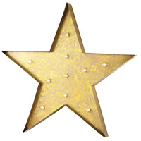 Sterling Star Marquee Sign in Antique Yellow 51-034