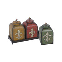 Sterling Industries Set of 3 Fleur De Lis Boxes Decorative Accessory 51-0405