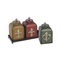 Sterling Industries Set of 3 Fleur De Lis Boxes Decorative Accessory 51-0405
