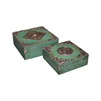 Sterling Industries Set of 2 Garland Medallion Boxes Decorative Accessory 51-0509