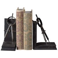 Sterling Industries Compass Bookends Decorative Accessory in Restoration Rusted Black 51-10002