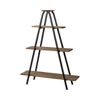 Sterling Industries Wooden A Line Shelves With Metal Frame Shelf in Restoration Black / Natural Wood 51-10003