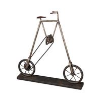 Sterling Industries Bicycle Accessory Decorative Accessory in Restoration Rusted Black / Silver 51-10004