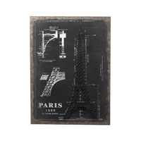 Sterling Industries Surveyors Chalk Sketch And Outline - Paris Wall Art in Black / Chalk 51-10007