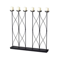 Sterling Industries Contemporary 6 Candle Holder Decorative Accessory in Silver 51-10009