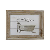Sterling Industries Savon De Bains Picture In Wooden Frame Decorative Accessory in Washed Pine 51-10014