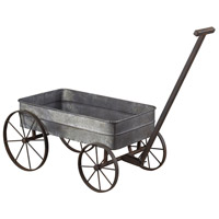 Sterling Industries Metal Cart Planter With Handle Decorative Accessory in Aluminium / Black 51-10016