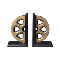 Sterling Industries Movie Reel Book Ends Decorative Accessory in Panorama 51-10029/S2