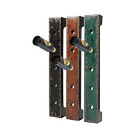 Sterling Industries Set of 3 Wall Hanging Wine Racks in Reiss Black/ Red / Green 51-10045 photo thumbnail