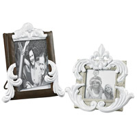 Sterling Industries Set of 2 Picture Frames in Richland Grey / Bronze With White 51-10064