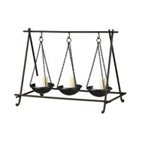Sterling Industries Cradle Candle Holder in Restoration Black 51-10079